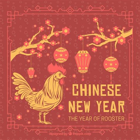 new year meaning of rooster vintage backgrounds vectors photos and psd files free