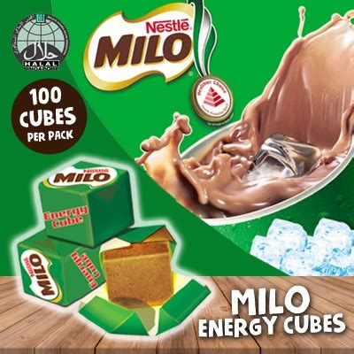 Milo Cube 100cube Wrap qoo10 nestle milo energy cube halal 1 pack 100 cubes fresh expired dat drinks