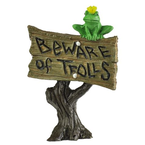 beware of the beware of the trolls sign
