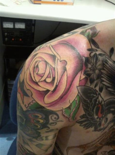 big rose tattoo 81 amazing flowers shoulder tattoos