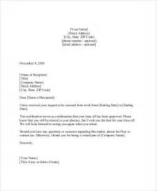 Business Letter Vacation Leave Sample Vacation Request Letter 5 Documents In Pdf Word