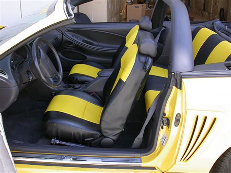 ford mustang leather seat covers ford mustang 1994 2004 iggee s leather custom fit seat