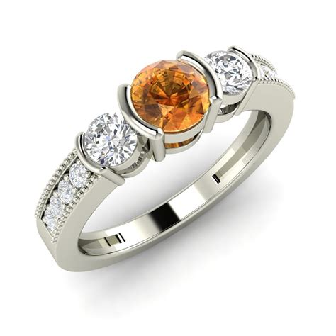Citrine Ct 01 citrine certified si engagement ring in