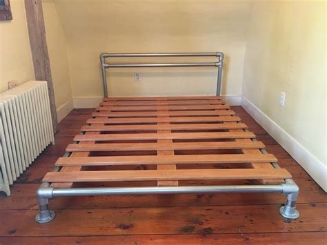 pipe bed frame pjdiy pipe flange bed frame alchemy eclectic