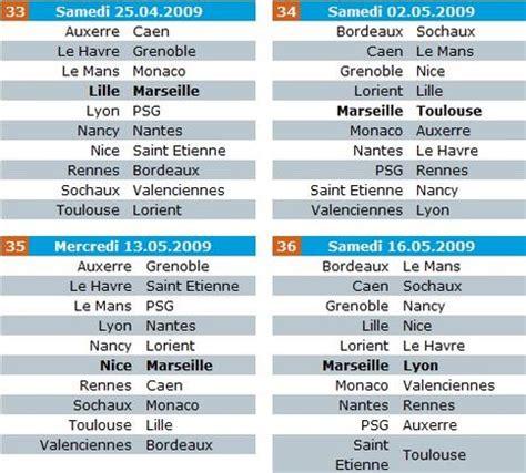 Calendrier Ligue 1 Bordeaux Lyon Le Calendrier 2008 2009 De Ligue 1 Paperblog