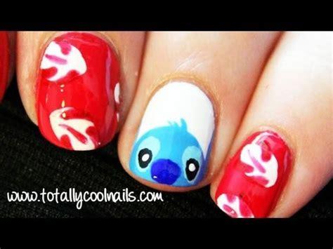 tutorial nail art stitch lilo and stitch nail art disney collab with hellomaphie