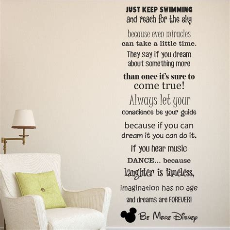 disney wall stickers be more disney saying wall quote sticker decal vinyl