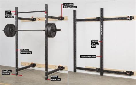 rogue   fold  wall mount rack features