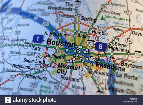 houston map in usa up map of houston usa stock photo royalty