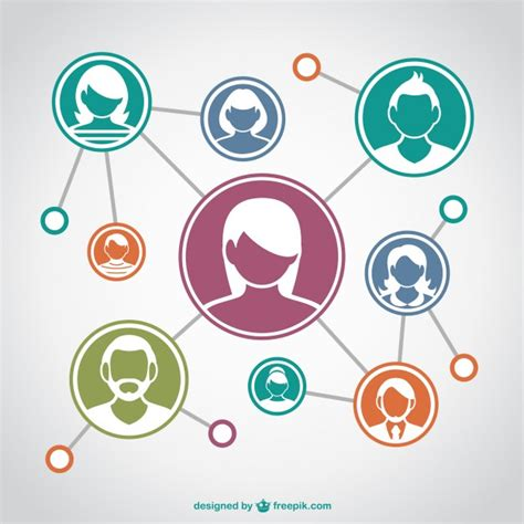 design network free communication network with assorted avatars vector free
