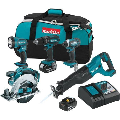 Nagita Set makita 18 volt lxt lithium ion cordless combo kit 5 tool