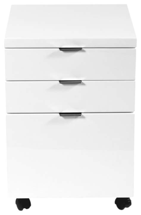 gilbert file cabinet white lacquer modern filing