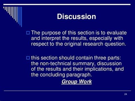 what is a discussion in a research paper conclusions for research papers philippines