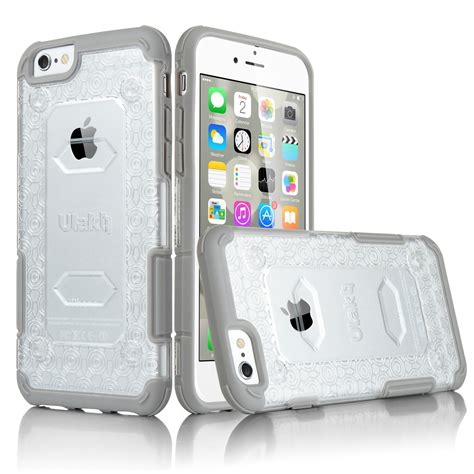 Daiso For Iphone 6 6s 7 Hardcase Clear Black ulak shockproof rugged hybrid clear for apple iphone 6 6s 4 7 quot ebay
