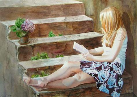 romantic figurative paintings  watercolor  oil