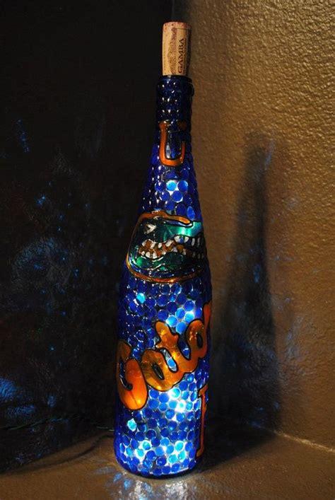 florida gators decorative lighted wine bottle