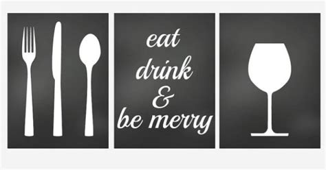 dining room prints wall art eat drink fork knife spoon wall decor kitchen art prints set of 3 prints for