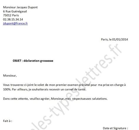 Modã Le Lettre De Dã Mission ã Ve Letter Of Application Modele Lettre Reduction Temps De Travail Grossesse