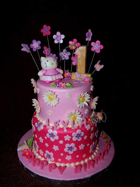 hello kitty themed cake pink hello kitty 1st birthday cake birthday cake cake