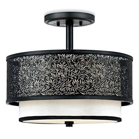 bed bath and beyond ceiling fans quoizel utopia mystic black ceiling light with cream silk