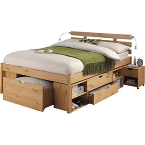 double bed with storage storage double bed frame pine