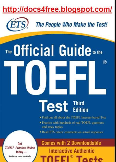 test toefl docs4free the official guide to the toefl