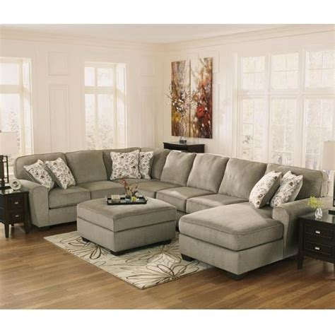 nebraska furniture mart sectionals patola park 4 piece sectional and ottoman in patina