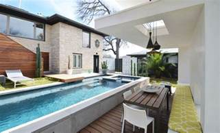 Homes For Narrow Lots the benefits of lap pools and their distinctive designs