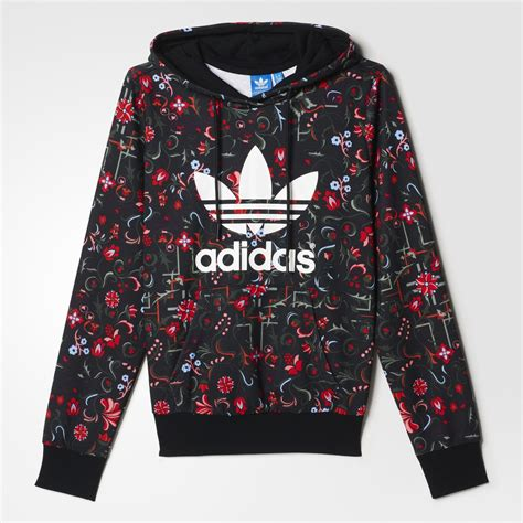 flower pattern hoodies adidas floral allover print trefoil from adidas