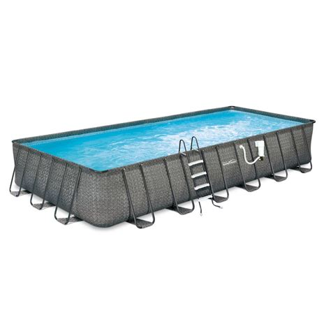 12 x 52 pool summer waves elite wicker 12 ft x 24 ft rectangular