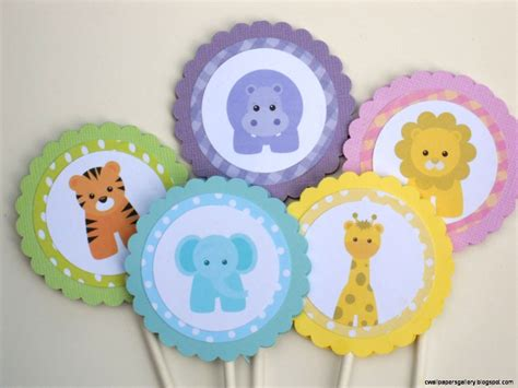 baby zoo animals baby shower decorations wallpapers gallery