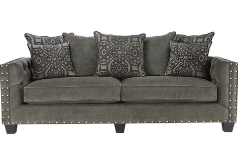 gray couch cindy crawford home sidney road gray sofa sofas gray