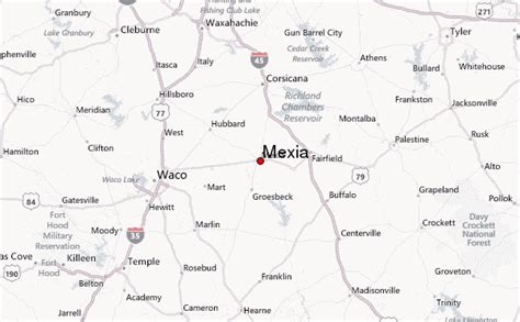 map of mexia texas mexia location guide