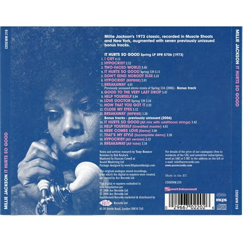 So Wholesome It Hurts by It Hurts So Millie Jackson Mp3 Buy Tracklist