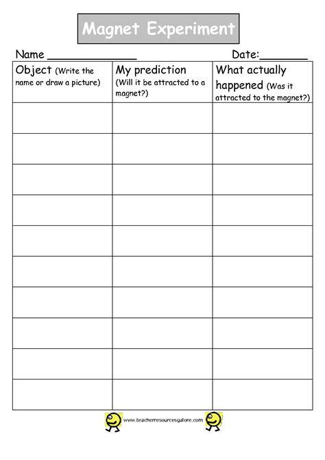 Magnetism Worksheets by 100 Magnets Worksheet Magnetism Worksheets Pdf