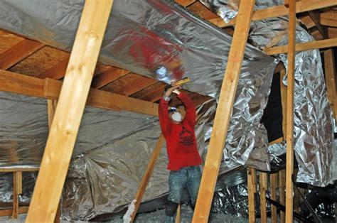 reflective paint vs foil attic foil radiant barrier attic insulation houston ultimate radiant barrier