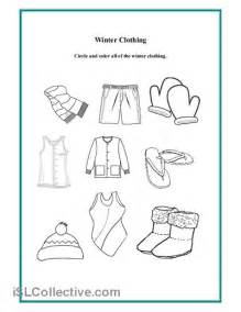 6 best images of free preschool winter clothes printables
