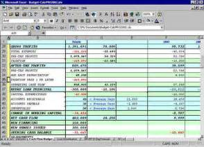forecast budget template excel balance sheets inventory flow