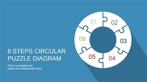6 steps circular segmented diagram for powerpoint slidemodel 6 step circular puzzle diagram template for powerpoint