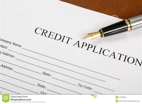 Credit Application Form Definition credit application form royalty free stock images image