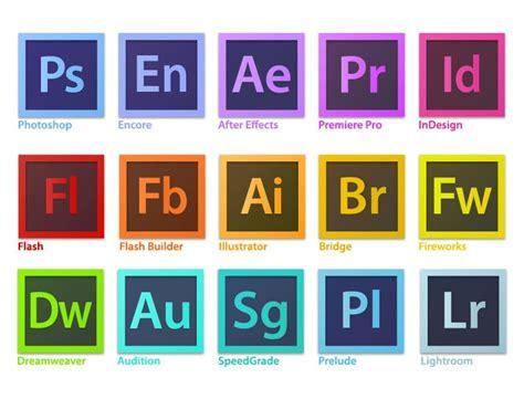 Adobe Softwares | adobe creative suite family software logo vector free