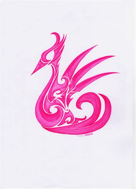 Pink Tribal pink tribal swan by chapiou on deviantart