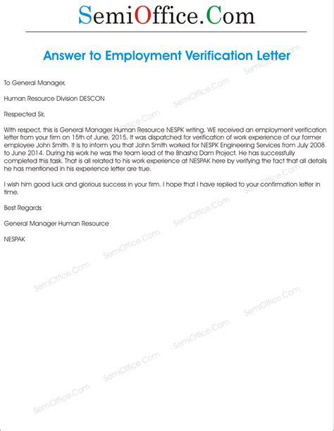 verification employment letter letter of recommendation in letter