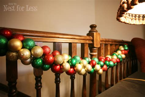 christmas garlandballs project ornament garland how to nest for less