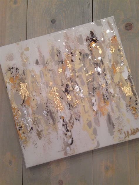 Ak105 Kalung Black Multiply Gold Leaf abstract on canvas by jenn meador 100 12 quot x12 quot email to purchase jennmeadorpaint gmail