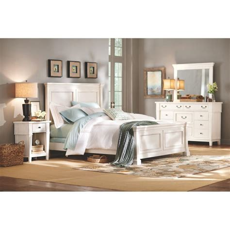 decorators home home decorators collection bridgeport antique white queen bed frame 1872500460 the home depot