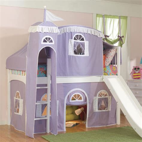 castle tent bedroom rooms to go kids kids bedroom fantasy castle tent low loft bed in lilac and white and