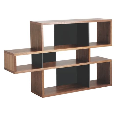 antonn low walnut black shelving unit buy now at habitat uk