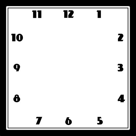 free printable square clock faces free and printable clock faces templates activity shelter
