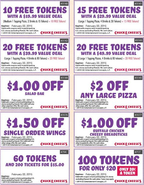 Coupon Calendar 2015 Chuck E Cheese Coupons June 2017 July 2017 Printable